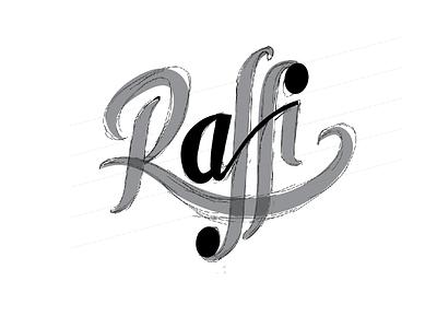 Raffi Wip digitalizing logo raffi