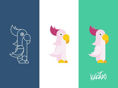 Kakatoo illustrator logo bird sketch cockatoo