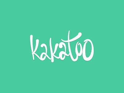 Kakatoo Script handwritten letters cockatoo kakatoo green logo wordmark