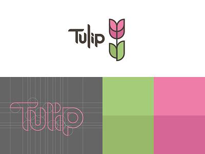 el Tulip brand circles lines logo flower tulip