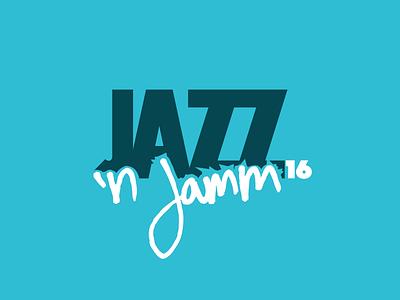 Jazz 'n Jamm '16 handwritten 2016 jamming jamm jazz logo