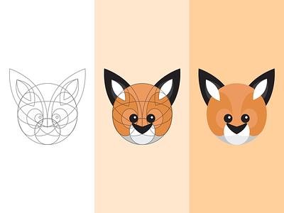 Lil' Foxy illustration illustrator lines cute animal fox