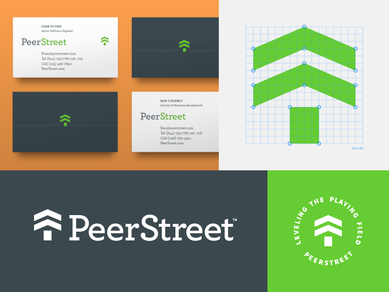 Peerstreet Logo And Business Cards 2x
