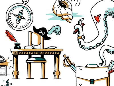 826 Vallencia Illustrations upperquad writting pirate illustration 826 vallencia