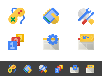 Google Developers Icons by Marcio Gutheil for Upperquad on