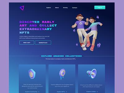 Landing Page | NFTs & Rarly Art design ux ui