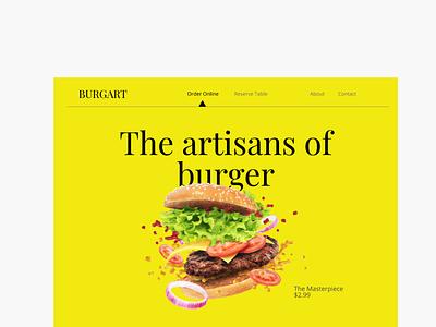 Food Ordering Landing Page UI clean graphic design design website typography flat web minimal ux ui