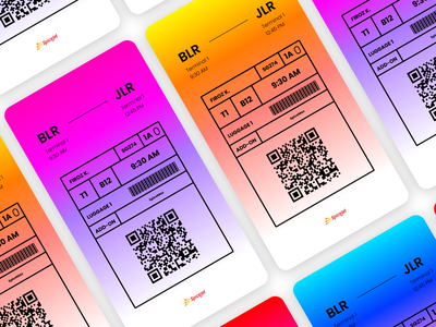 Boarding Pass UI Design typography graphic design brand identity pass branding minimal ux design clean flat ui boarding pass
