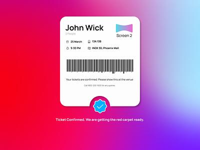 DailyUi 54 - Confirmation boarding pass app design ux ui minimal flat clean design dailyuichallenge confirmation dailyui54 dailyui