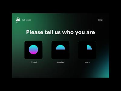 Dailyui 64 - Select User Type colorful dailyui app design flat design clean minimal ux ui