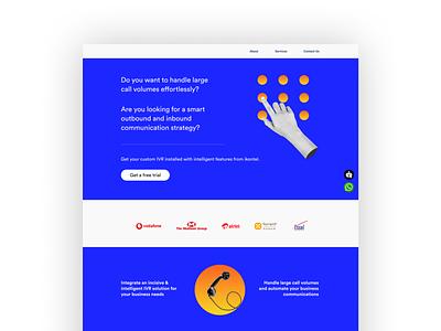 Landing Page for Telecom Solution Service Provider landing page design website graphic design ux ui webdesign landingpage