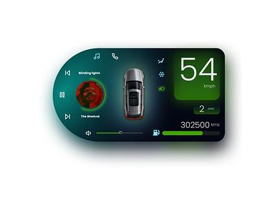 Car Interface UI Design dailyui interface car design ux ui