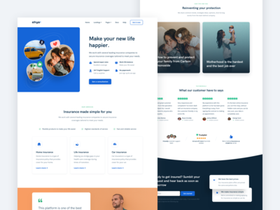 Insurance Landing Page for Ehya