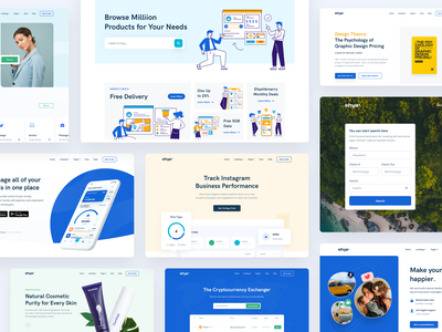 Ehya Landing Page Headers onboarding dashboard ui form marketing website design bootstrap theme html template landing page theme saas landing page e-commerce saas web design landing page illustration