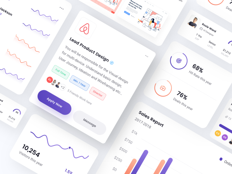 Square Elements: Color Exploration web design illustration landing page data visualisation project management tools card social media analytics hr dashboard sales dashboard visual exploration graphic chart freebies ui kit dashboard ui element