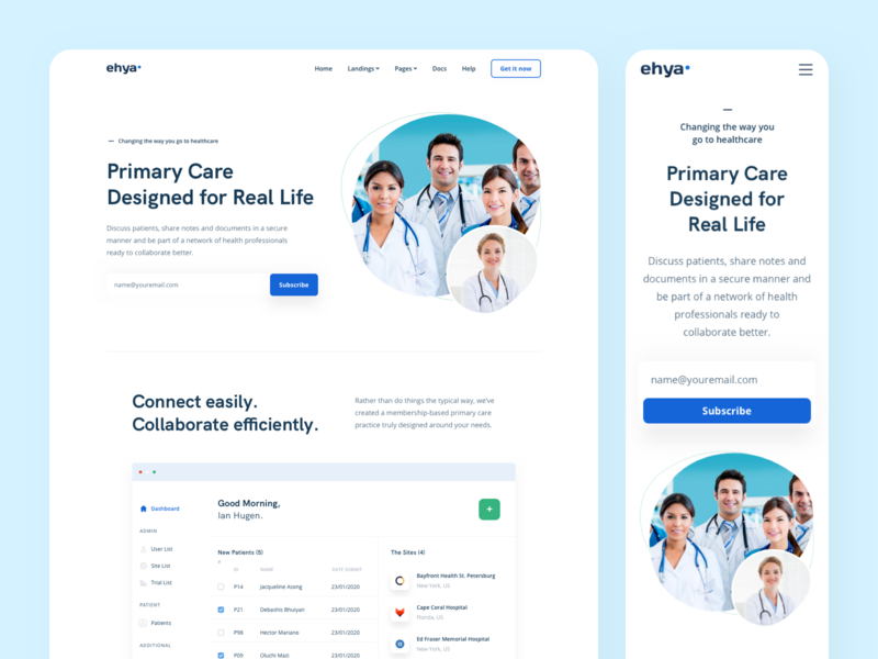 Healthcare Landing Page marketing website design platform saas management insurance coronavirus dashboard web design landing page homepage healthcare