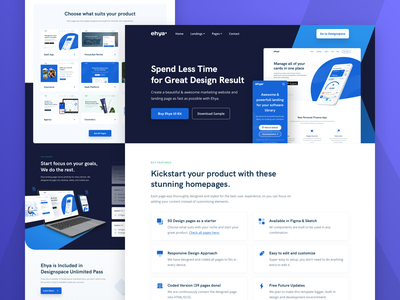 Ehya Product Landing Page exploration minimal shadow visual exploration design tools marketing platform bootstrap landing page template ui element dashboard apps web design landing page