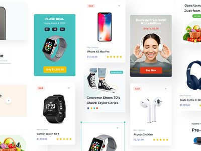 Marketplace Website Widgets modal tab edit mode freelance components modern features website template ui template product card discount promo minimal card marketplace commercial landing page ui kit widget