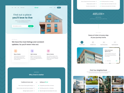 Oval Housing Website Design Template real estate agency marketplace theme green minimal home web design landing page real estate agent design template ui kit marketing website real estate housing