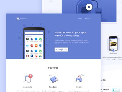 Cloud Apps Landing Page