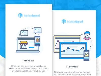 Inventory Management Apps - Tutorial 1 tutorial wholesale walktrough vector sale onboarding material design inventory illustration icon ecommerce