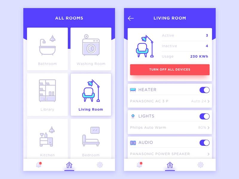 Smart home apps by ibnu mas 39 ud dribbble Design your house app