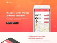 Aidmaid landing page