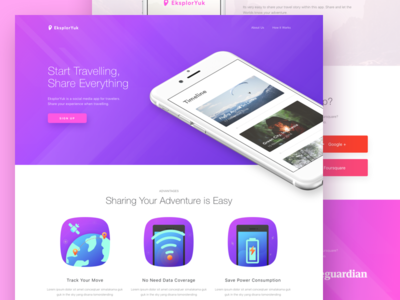 Record And Share Travels Landing Page