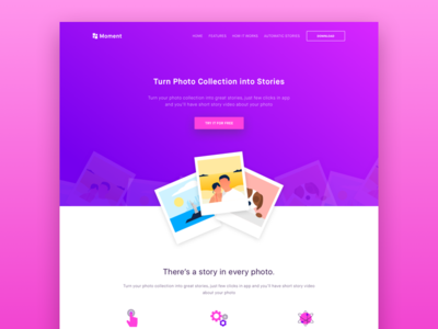 Photo Moment Landing Page