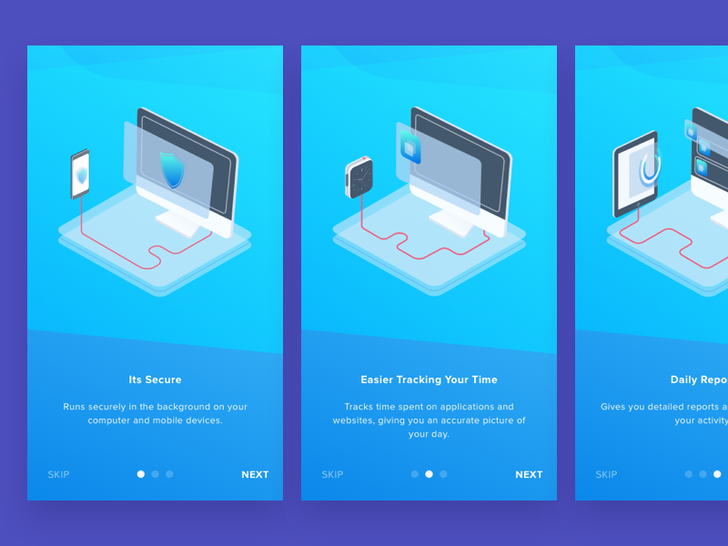Time Management App Onboarding 3d time onboarding feature website tutorial walktrough management isometric how it works