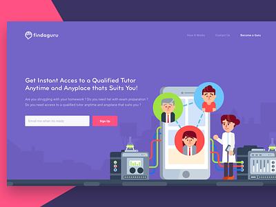 Findaguru Header app lms management learn campus education lesson teacher guru