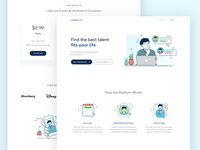 Jobseeker - Business Page dropbox illustration icon business landing page marketplace find job tinder jobseeker