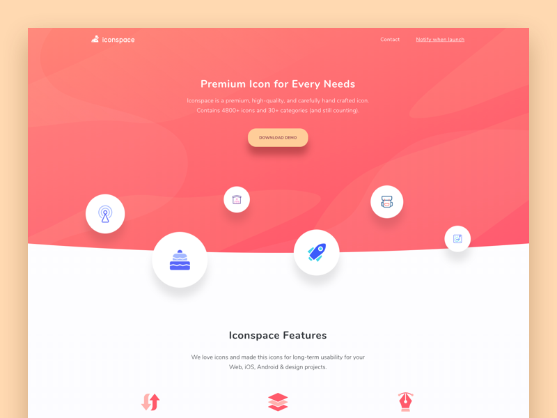 Iconspace Pre Launch Website by Ibnu Mas'ud for Sebo