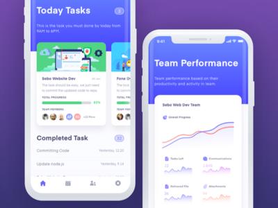 Task Management App app ux design graphic chart performance iconspace design style gui app ui project management tool task manager task management