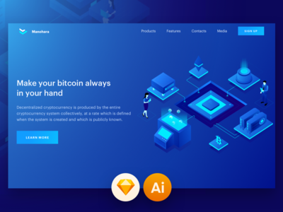Cryptocurrency And Technology Isometric Illustration
