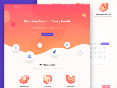 Iconspace : an Icon for Every Needs illustration icon set icon freebies woocommerce optimization front end development landing page icon marketplace icon