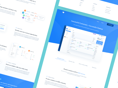 Vitally Product Pages dashboard ui mrr logo crm integration saas product design product design data illustration onboarding illustration landing page