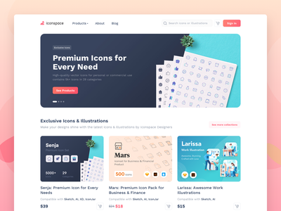 Iconspace v 2.0 payment checkout product freebies icon set web design onboarding landing page illustration marketplace