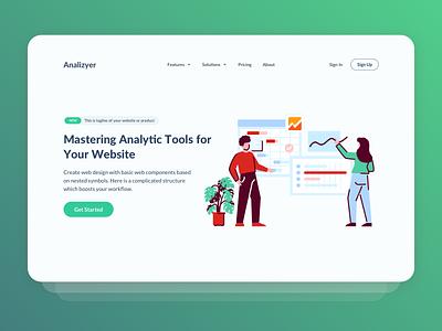 Mastering Analytic Tools illustration kit freebies icon vector web design onboarding landing page illustration