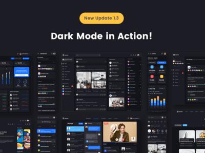 Dark Theme UI Kit