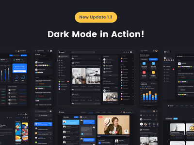 Dark Theme UI Kit night mode dark ui dark theme social media design framework ui design dashboard ui kit ui kit product design freebies web design landing page