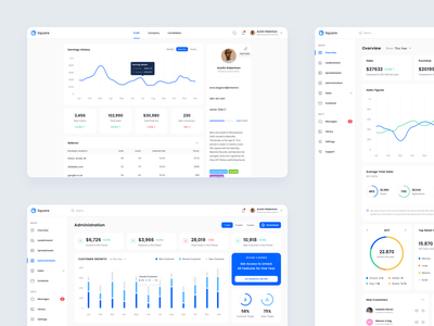 Square Dashboard UI Kit - Black Friday! apps landing page web design table chart sales black friday sale statistic freebies free sample dashboard ui kit discount black friday