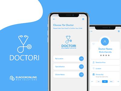 Doctori App icon app web ui ux website design flat graphic design branding