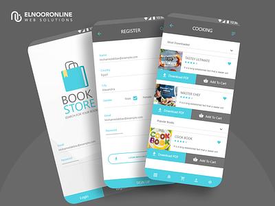 Book Store App app web logo typography vector design branding ui website ux graphic design