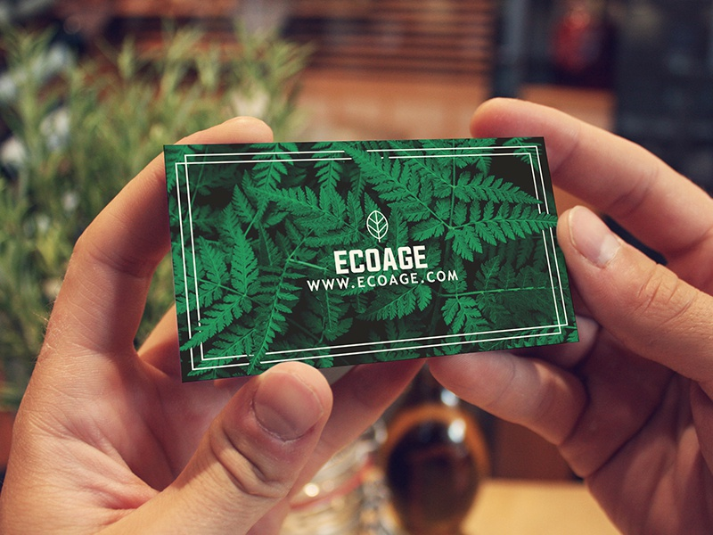 Free Natural Business Card Template By Made By Marvel Dribbble