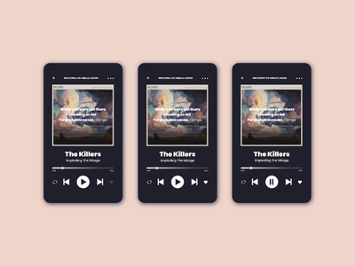 Music player music player app ui challange ui illustration design