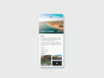 Travel Destination destination travel app ui challange ui design