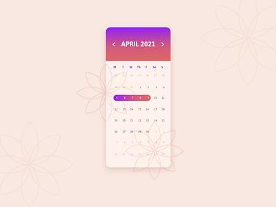 Date picker calendar date picker app ui challange ui design