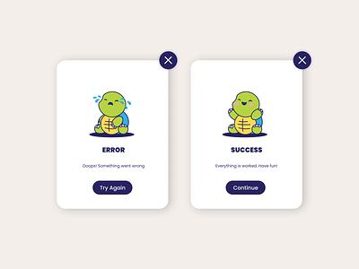 Flash Message cute turtle flash message illustration app ui challange ui design