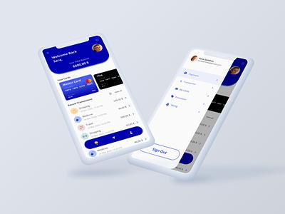 Mobile Banking App minimal ui design mobilebanking mobile app design